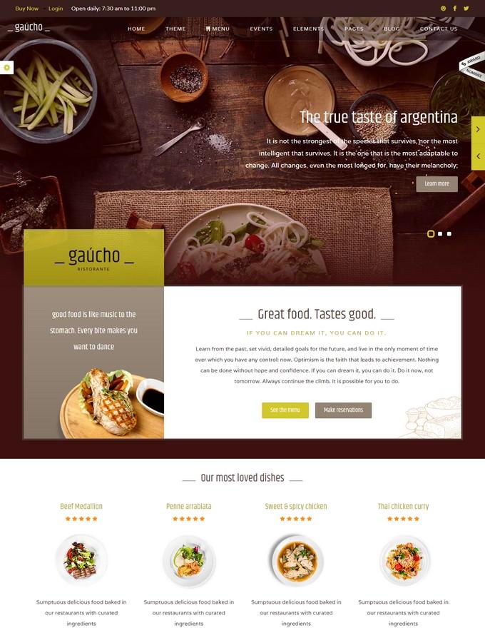 Cafe Bistro Responsive Restaurant HTML Template