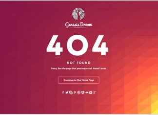 Genesis Dream - Responsive 404 Error HTML5