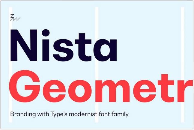 Geometric Font Nista