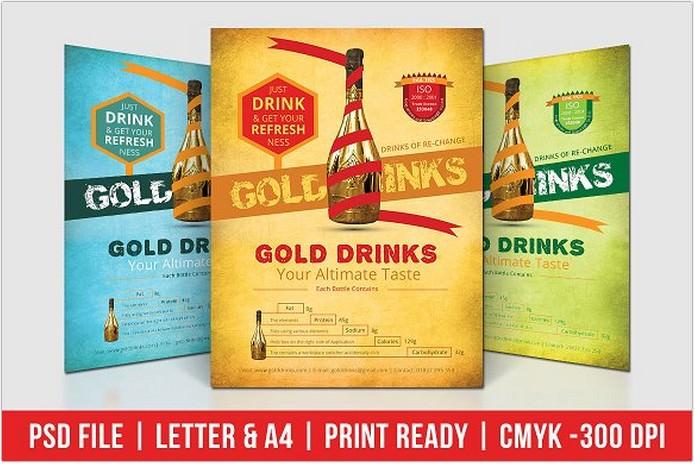 Gold Drinks Flyer
