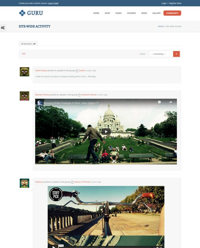 Guru Learning Management WordPress Theme
