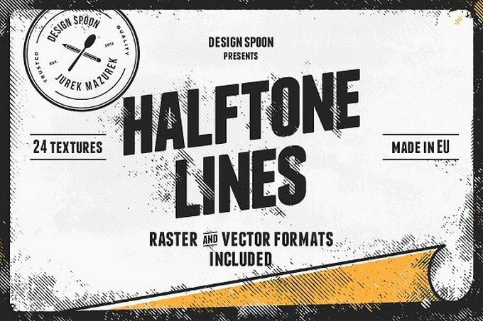 Halftone Lines - Texture