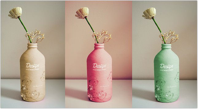 Handmade Bottle Mockup