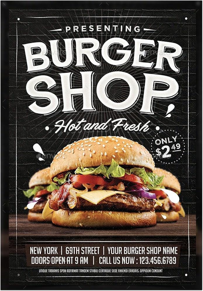 Hot And Fresh Burger Flyer