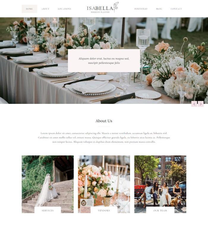 Isabella - Wedding Planner HTML Template