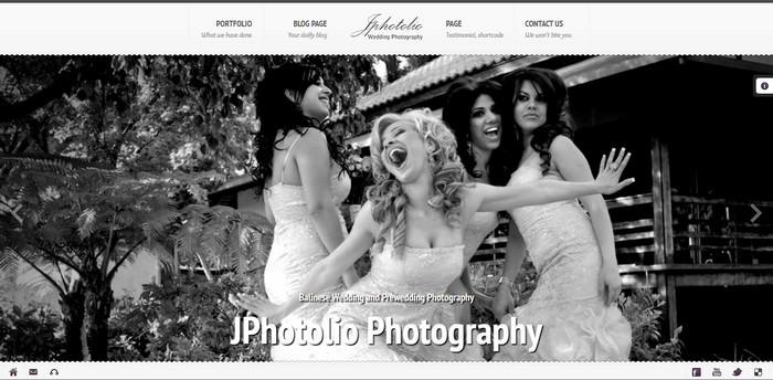JPhotolio Responsive Wedding Photography Template