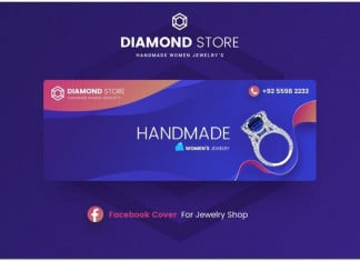 Diamond Jewelry Facebook Cover Template