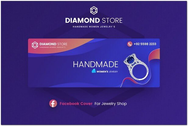 Jewelry Facebook Cover Template