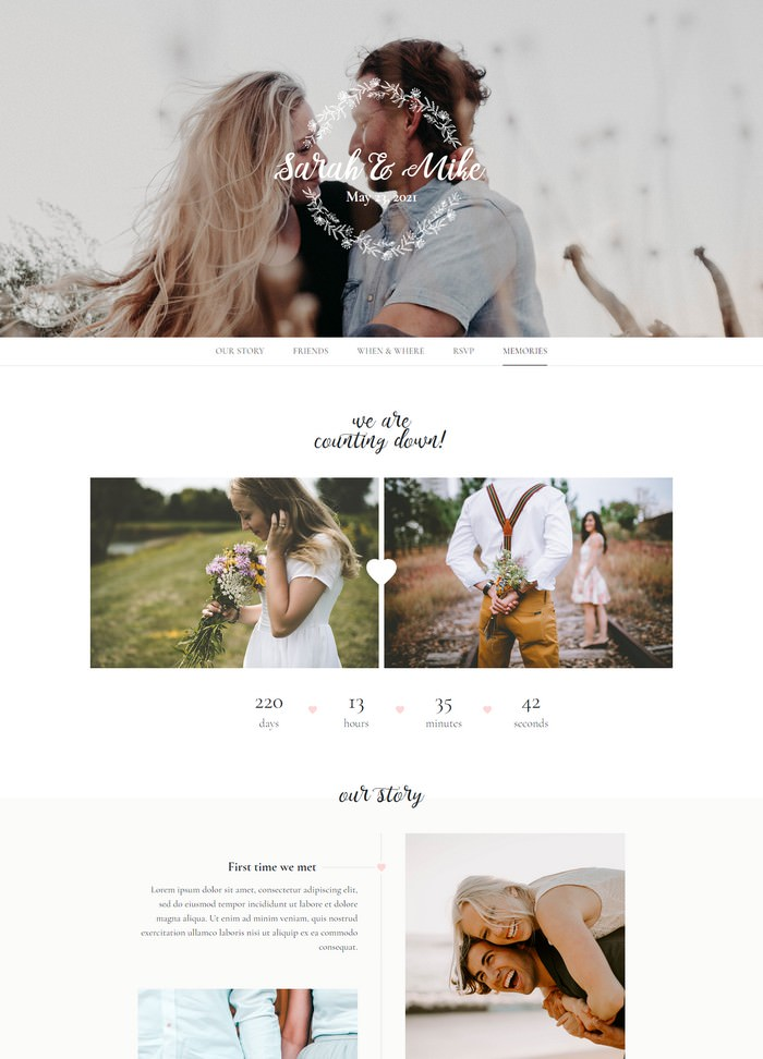 L'amore - Wedding HTML Template