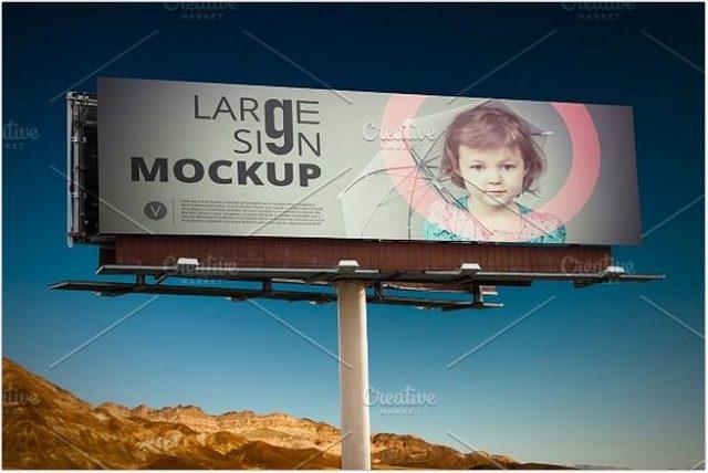 Large Sign Billboard Mockup