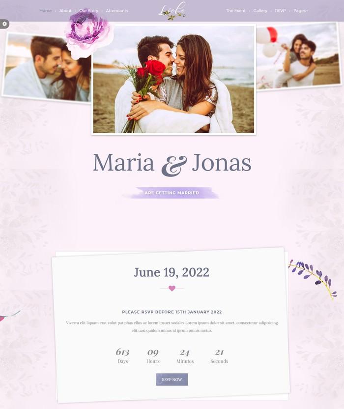 Liebe - Responsive HTML Wedding Template