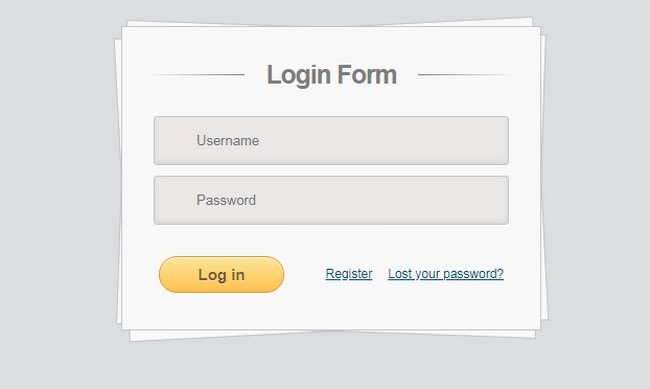 Login Form on HTML5