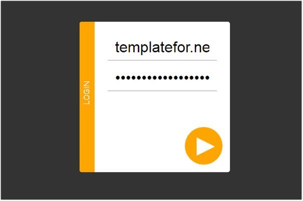 HTML5 Login Form