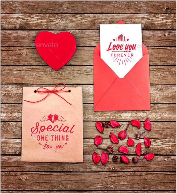 Love Greeting Card Mock-up