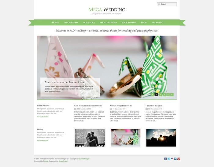 MD Wedding Drupal Wedding Theme