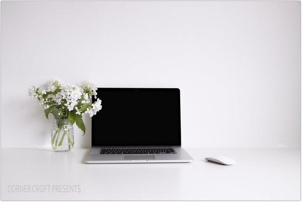 Macbook Pro Mockup Styled Stock Photo