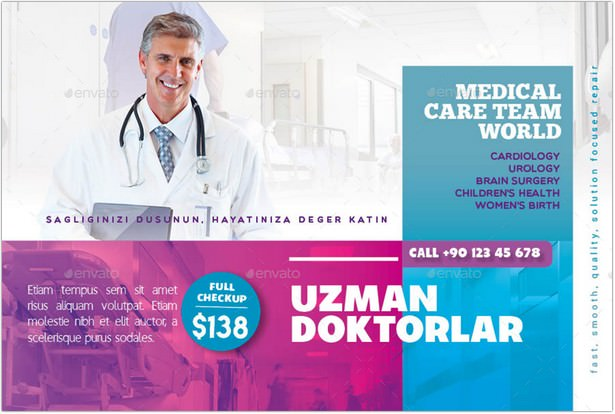 Medical Postcard Templates