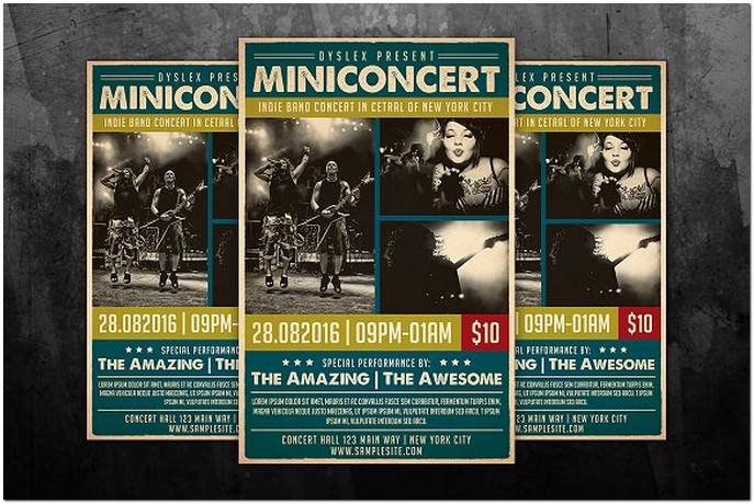 Mini Concert Flyer