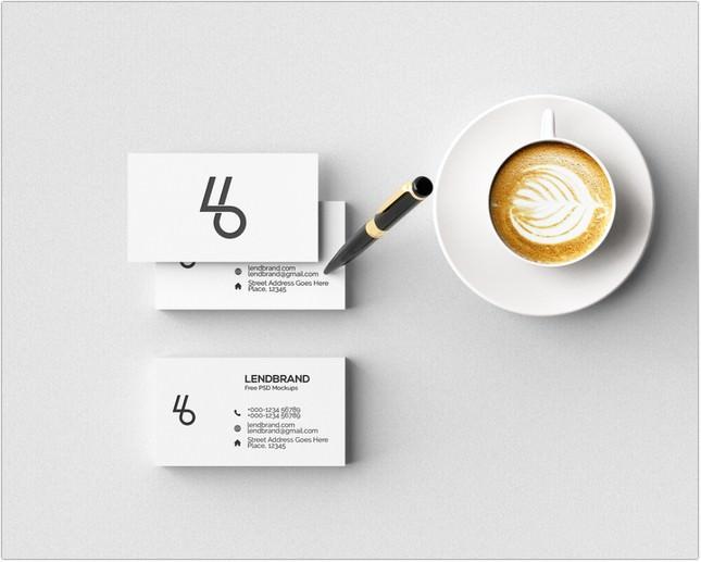 Minimal Business Card PSD Mockup