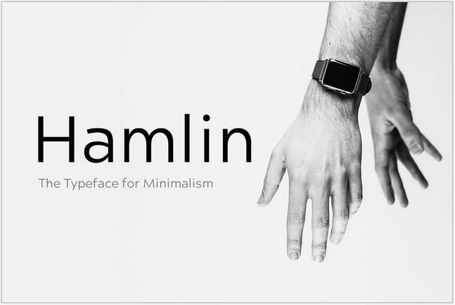 Minimal Geometric Typeface