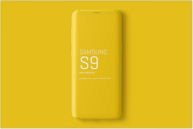Minimal Samsung Galaxy S9 Mockups