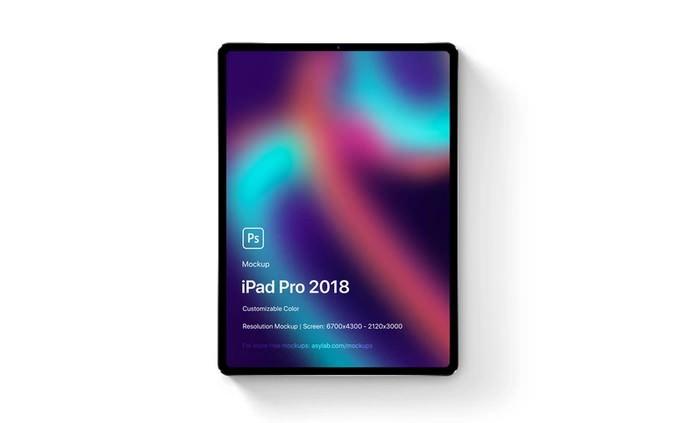 Mockups iPad Pro 2018 Mockup