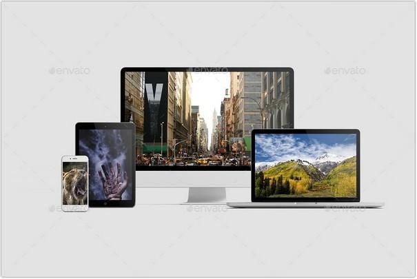 Multi Devices Responsive Website Mockup Vol. 2