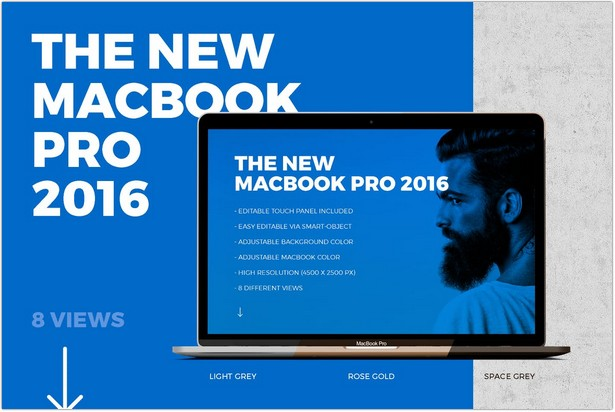 New Macbook Pro 2016 with Touch Panel