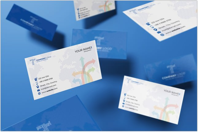 Notch Business Card Mockup Collection