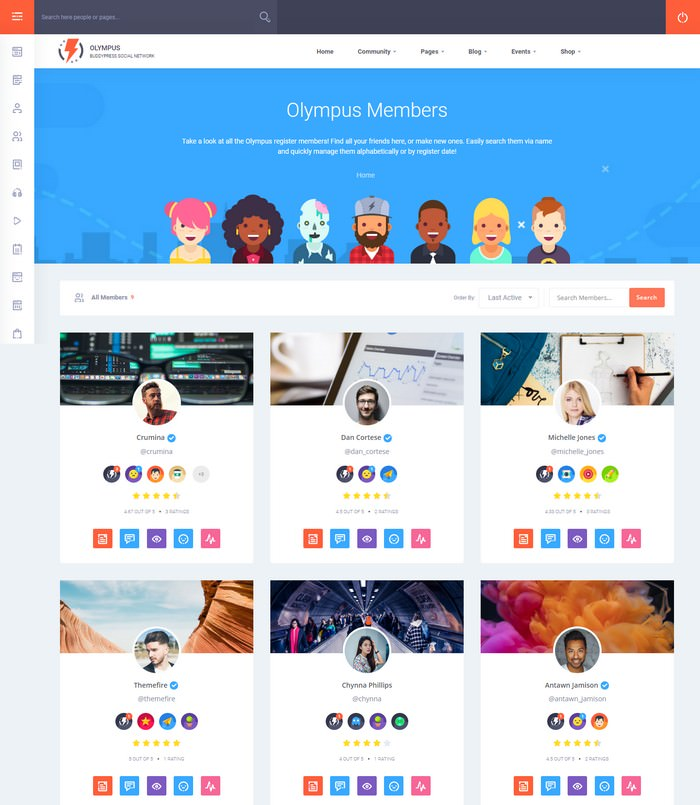 Olympus - Social Networking WordPress Theme