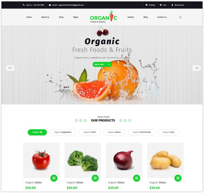 Food and Fruits Template