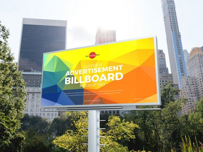 Outdoor Advertisement PSD template