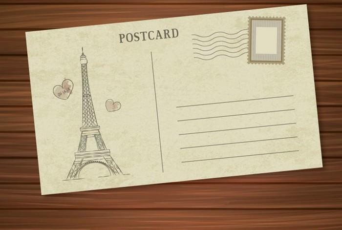Paris Postcard Free Vector