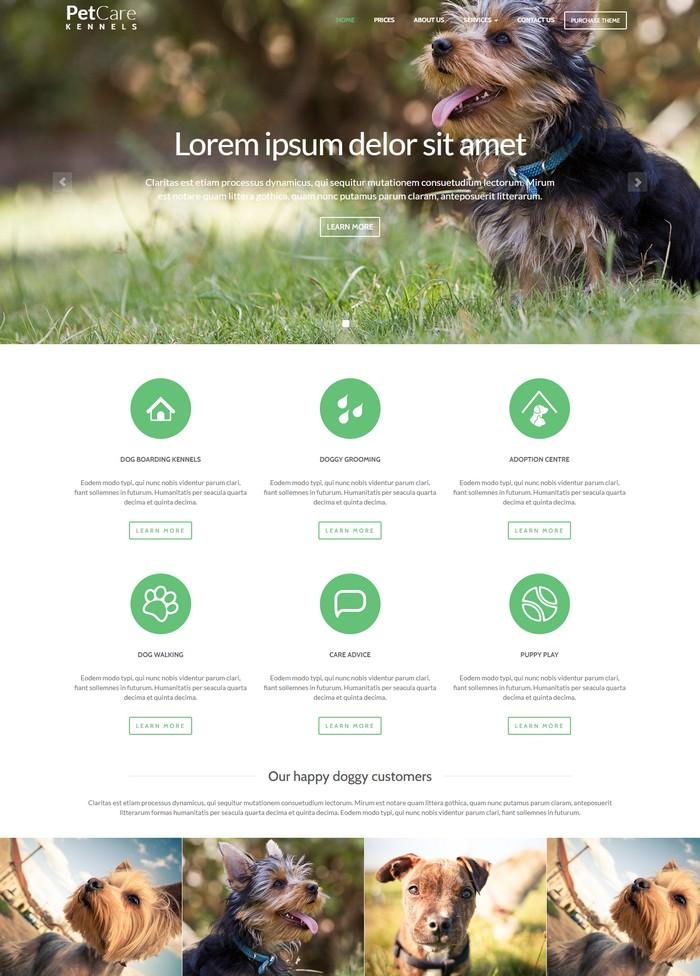 Pet Care Dog Kennels HTML