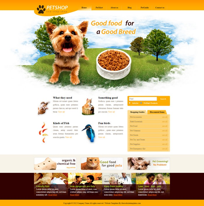 Pet Shop Free Css Template