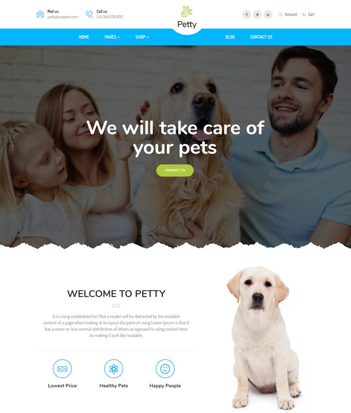 Pet Shop - HTML Template
