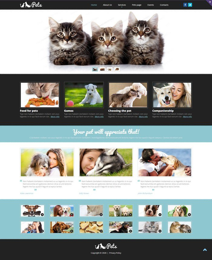 Pet Shop Responsive Website Template