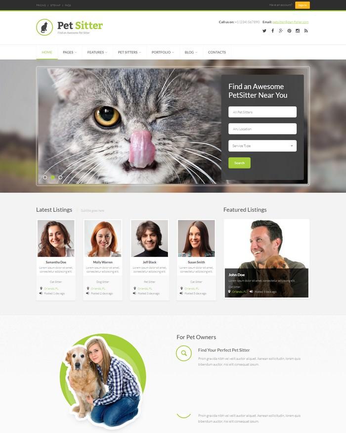 PetSitter – Responsive HTML5/CSS3 Template