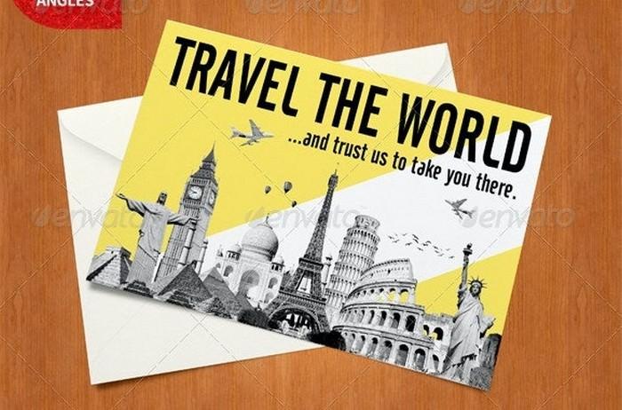 Photorealistic Postcard Mock-Ups
