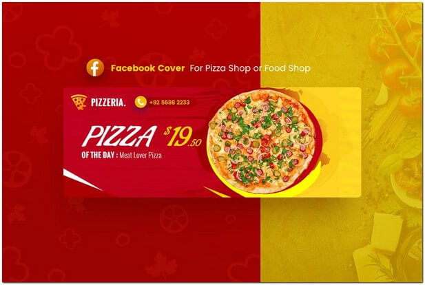 Pizza Food Facebook Cover Template
