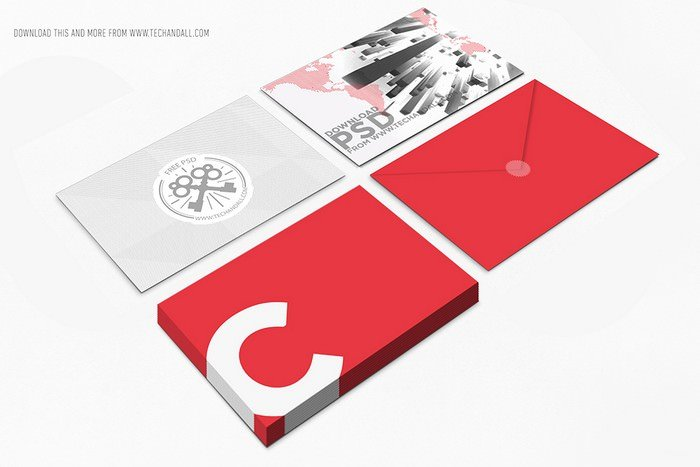 Postcard & Envelop Showcase Mockup