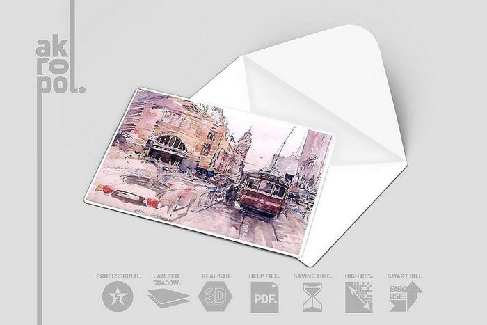 Postcard / Invitation Card Mockup