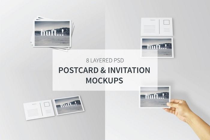 Postcard & Invitation Mockups