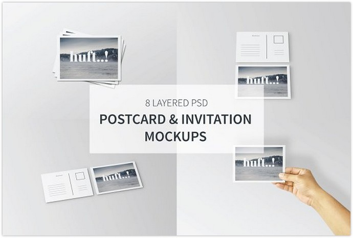 Postcard & Invitation Mockup