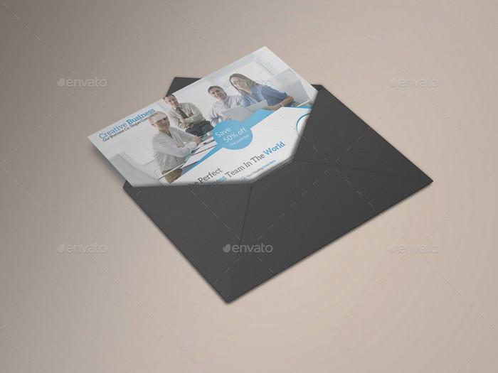 Postcard Mock-Ups PSD
