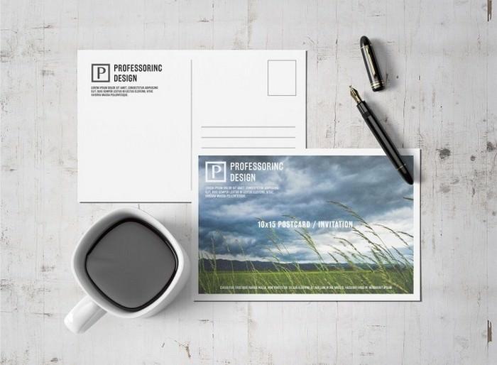Postcard Mock up Design