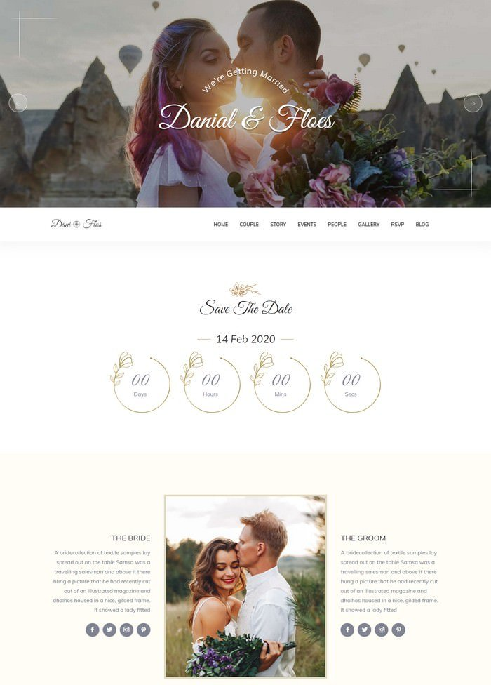 Pretty - HTML Responsive Wedding Template