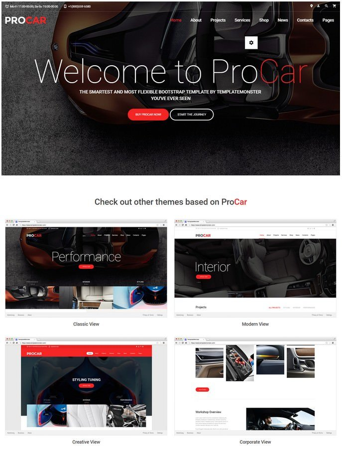 ProCar - Car Parts Multipage HTML Website Template