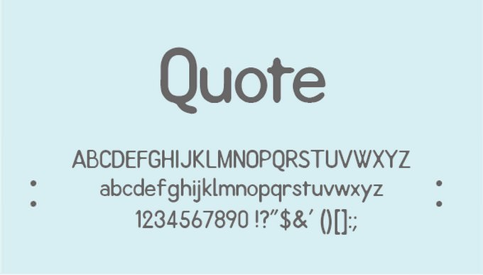 Quote Free Font
