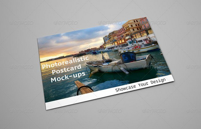 Realistic Postcard Mock-ups